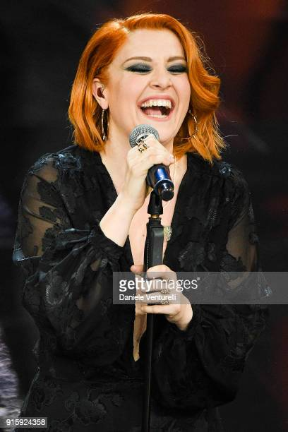 Noemi attends the third night of the 68 Sanremo Music Festival on February 8 2018 in Sanremo Italy