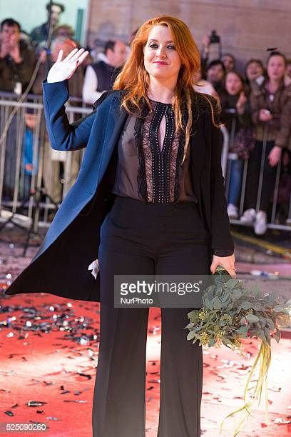 Noemi during the red carpet at the 66th Sanremo Music Festival on February 8 2016