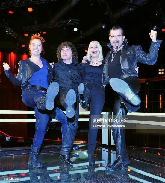 Noemi Riccardo Cocciante Raffaella Carra and Piero Pelu attend 'The Voice of Italy' Photocall on March 5 2013 in Milan Italy