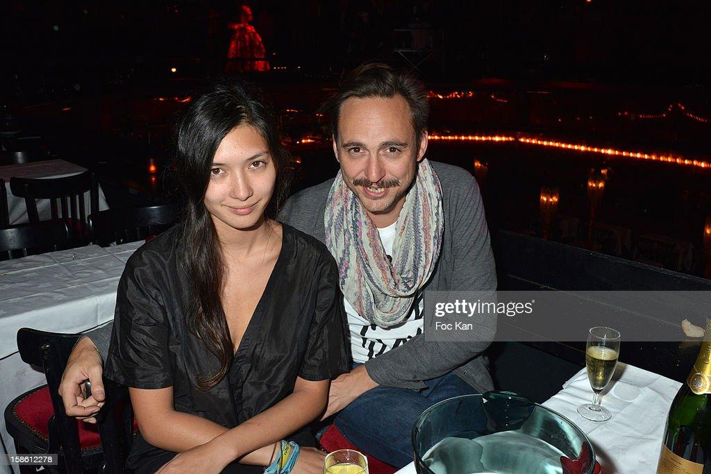 DJ Noemi Sunshine Ferst and Fabien Pochez attend the 'Joyeux Paradis' Party by Emmanuel d'Orazio & Marc Zaffuto at Le Paradis Latin on December 20, 2012 in Paris, France.