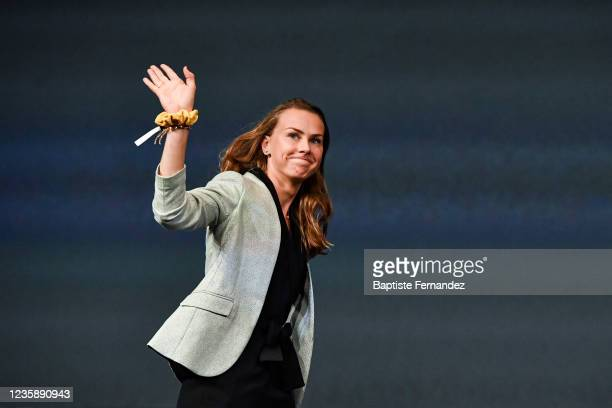 Noemie ABGRALL during the presentation of the Tour de France 2022 at Palais des Congres on October 14, 2021 in Paris, France.