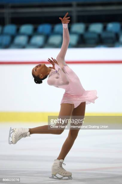 Noemie Bodenstein of Switzerland performs in the Junior Ladies Free Skating Program during day four of the ISU Junior Grand Prix of Figure Skating at...