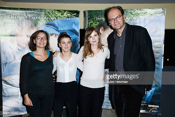 Noemie Churlet Ariana Rivoire Isabelle Carre and Jean Pierre Ameris attend 'Marie Heurtin' Paris Premiere on November 6 2014 in Paris France