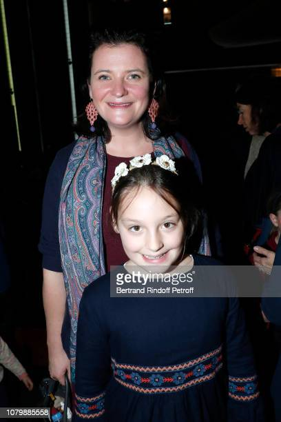 Noemie de Yturbe and her daughter Heloise attend 'Cendrillon' choregraphing by Rudolf Noureev during 'Reve d'Enfant' Charity Gala at Opera Bastille...
