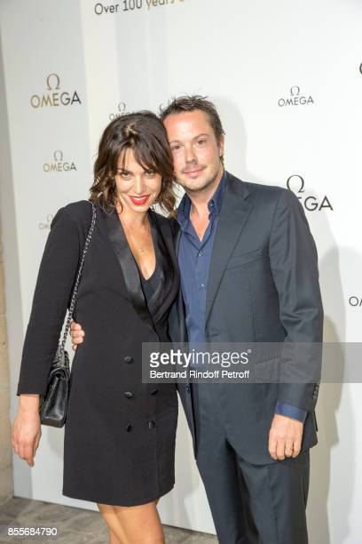 Noemie Elbaz and Davy Sardou attend Her Time Omega Photocall as part of the Paris Fashion Week Womenswear Spring/Summer 2018 on September 29 2017 in...