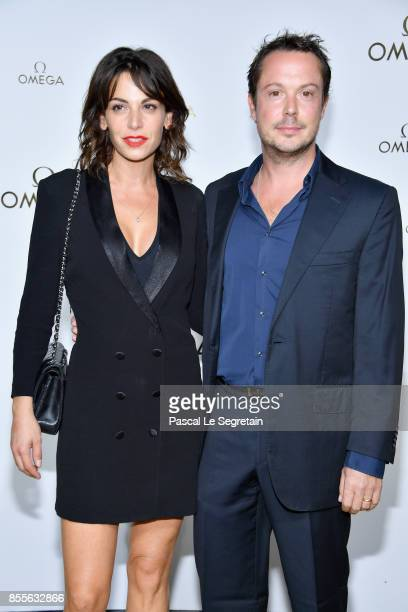 Noemie Elbaz and Davy Sardoux attend Her Time Omega Photocall as part of the Paris Fashion Week Womenswear Spring/Summer 2018 on September 29 2017 in...