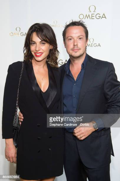Noemie Elbaz and Davy Sardoux attend the Her Time Omega Photocall as part of the Paris Fashion Week Womenswear Spring/Summer 2018 at on September 29...