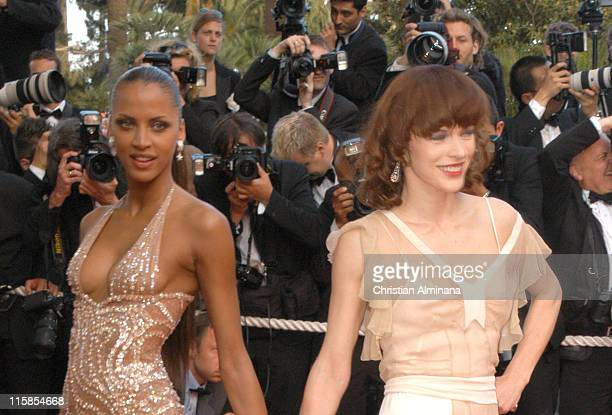 Noemie Lenoir and Milla Jovovich during 2005 Cannes Film Festival Closing Ceremony and 'Chromophobia' Screening at Palais de Festival in Cannes France