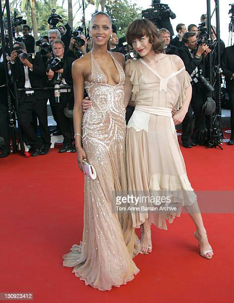 """Noemie Lenoir and Milla Jovovich during 2005 Cannes Film Festival - Closing Ceremony and """"Chromophobia"""" Screening at Palais Du Festival in Cannes,..."""