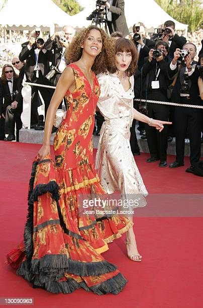 """Noemie Lenoir and Milla Jovovich during 2005 Cannes Film Festival - """"The Three Burials of Melquiades Estrada"""" Premiere at Palais de Festival in..."""