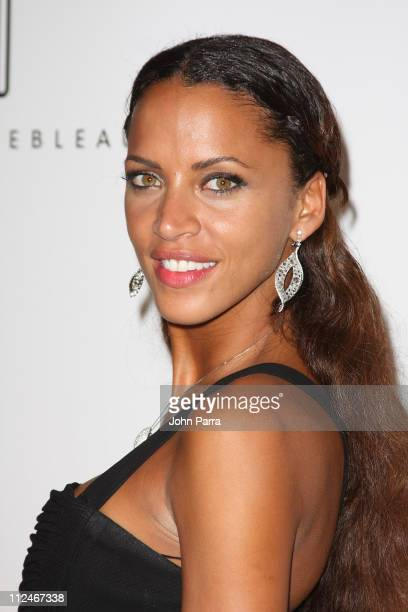 Noemie Lenoir arrives at the grand opening of Fontainebleau Miami Beach on November 14 2008 in Miami Beach Florida