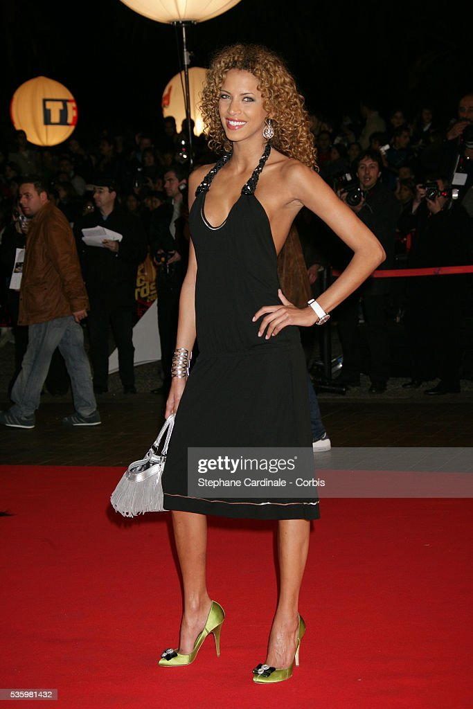 Noemie Lenoir arriving at the Cannes festival palace to attend the NRJ Music Awards.