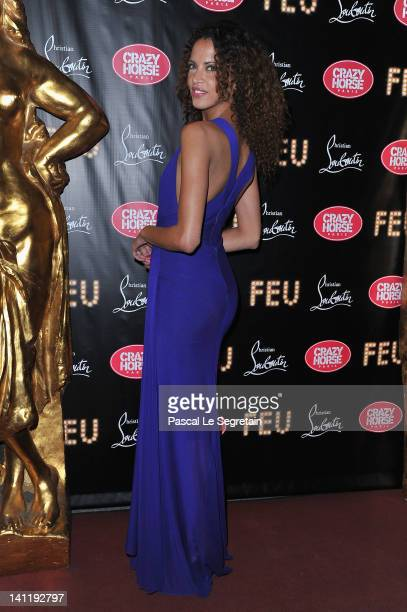 Noemie Lenoir attends 'Feu' Directed By Christian Louboutin VIP Premiere at Le Crazy Horse on March 12 2012 in Paris France