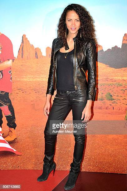 Noemie Lenoir attends 'Les Tuche' Paris premiere at Gaumont Opera on January 25 2016 in Paris France