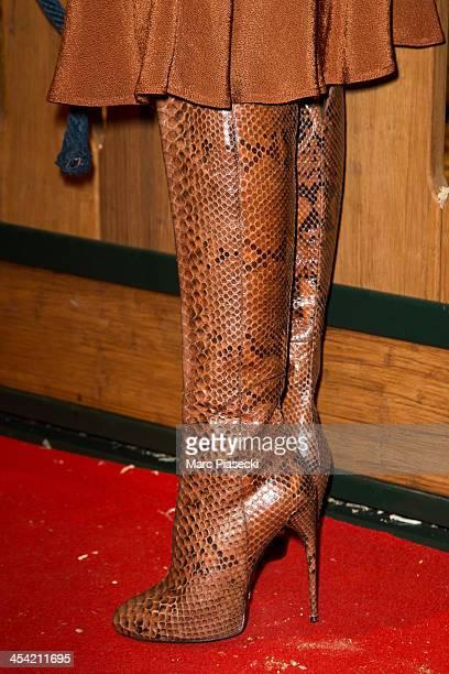 Noemie Lenoir attends the 'Gucci Paris Masters 2013' at Paris Nord Villepinte on December 7 2013 in Paris France