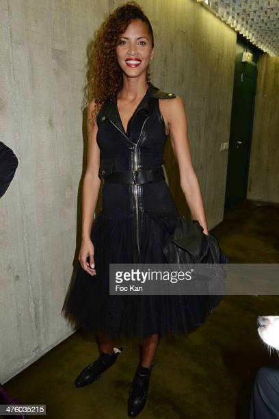 Noemie Lenoir attends the Jean Paul Gaultier Show as part of the Paris Fashion Week Womenswear Fall/Winter 20142015 at Espace Oscar Niemayer on March...