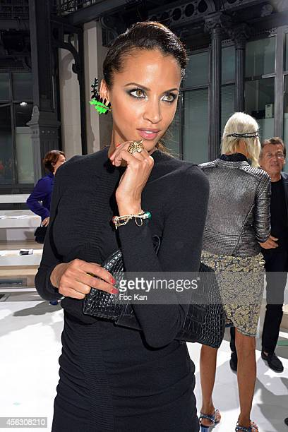 Noemie Lenoir attends the John Galliano show as part of the Paris Fashion Week Womenswear Spring/Summer 2015 John Galliano Runway Paris Fashion Week...