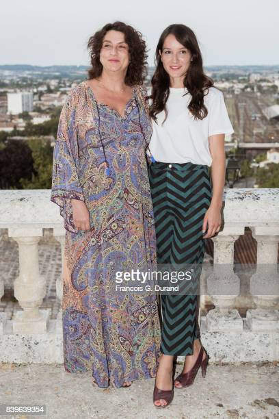 Noemie Lvovsky and Anais Demoustier attend the 10th Angouleme FrenchSpeaking Film Festival on August 26 2017 in Angouleme France
