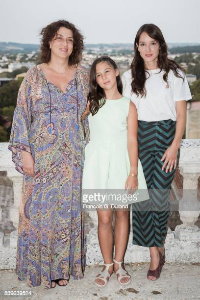 Noemie Lvovsky Luce Rodriguez and Anais Demoustier attend the 10th Angouleme FrenchSpeaking Film Festival on August 26 2017 in Angouleme France