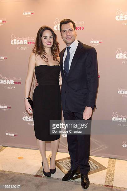 Noemie Merlant and Laurent Lafitte attend the 'Cesar's Revelations 2013' Dinner Arrivals at Le Meurice on January 14 2013 in Paris France