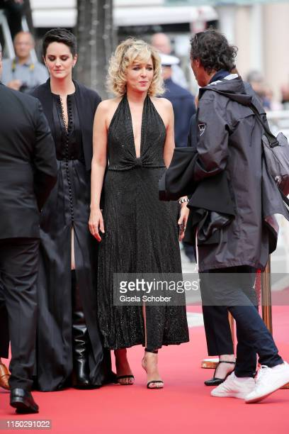 Noemie Merlant and Valeria Golino attend the screening of Portrait Of A Lady On Fire during the 72nd annual Cannes Film Festival on May 19 2019 in...