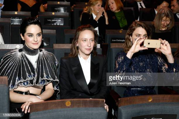Noemie Merlant, Celine Sciamma and Adele Haenel attend the Cesar Film Awards 2020 Ceremony At Salle Pleyel In Paris on February 28, 2020 in Paris,...