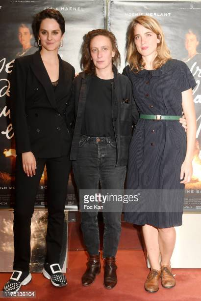 Noemie Merlant director Celine Sciamma and Adele Haenel attend the Portrait De La Jeune Fille en Feu Paris premiere at UGC Cite Les Halles on...