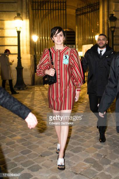 Noemie Merlant is seen outside the Vuitton show during Paris Fashion Week Womenswear Fall/Winter 2020/2021 on March 03 2020 in Paris France