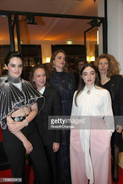 "Noemie Merlant, Luana Bajrami, Adele Haenel and team of ""Portrait de la jeune fille en feu"" attend the Cesar Film Awards 2020 Ceremony at Salle..."
