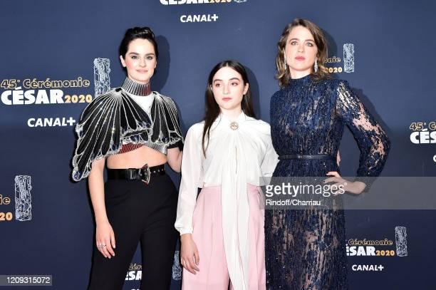 Noemie Merlant Luana Bajrami and Adele Haenel arrive at the Cesar Film Awards 2020 Ceremony At Salle Pleyel In Paris on February 28 2020 in Paris...