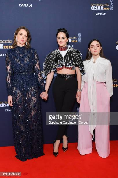 Noemie Merlant Luana Bajrami and Adele Haenel arrive at the Cesar Film Awards 2020 Ceremony At Salle Pleyel In Paris on February 28 2020 in Paris...