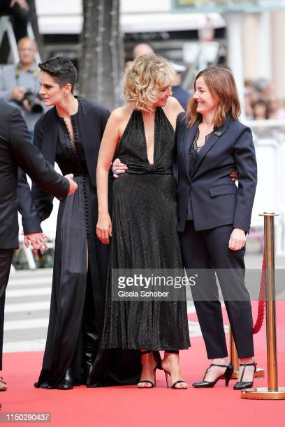Noemie Merlant Valeria Golino and Bénédicte Couvreur attend the screening of Portrait Of A Lady On Fire during the 72nd annual Cannes Film Festival...