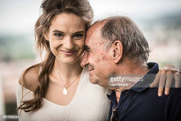 Noemie Schmidt and Claude Brasseur are photographed for Gala on August 31 2015 in Angouleme France