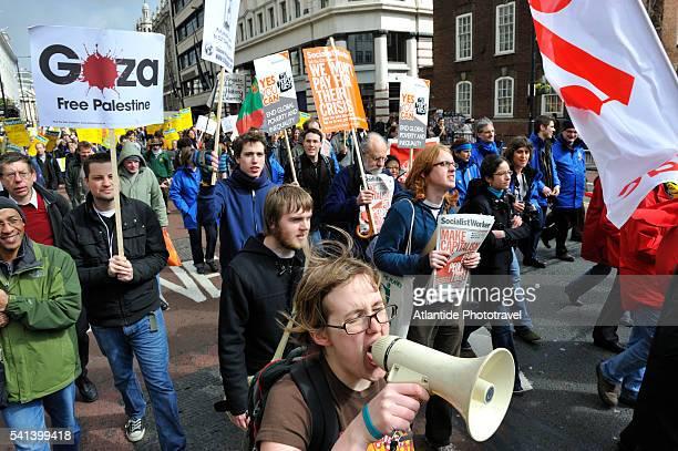 No-Global rally at Piccadilly Circus