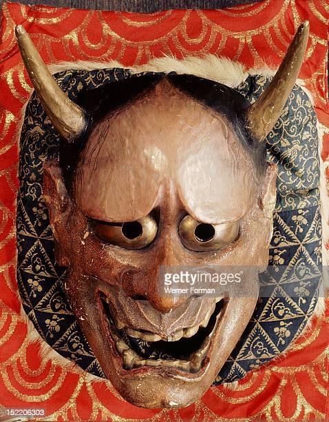 Noh mask representing a demon Hannya Japan Japanese 1280