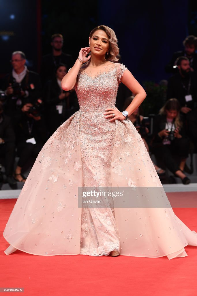 Noha Nabil walks the red carpet wearing a Jaeger-LeCoultre watch ahead of the 'Three Billboards Outside Ebbing, Missouri' screening during the 74th Venice Film Festival at Sala Grande on September 4, 2017 in Venice, Italy.