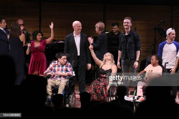 Nohely Quiroz JK Simmons Ali Stroker Elliot Greer Drew B Carr and students from the Center for Discovery perform onstage during Broadway's Best Comes...
