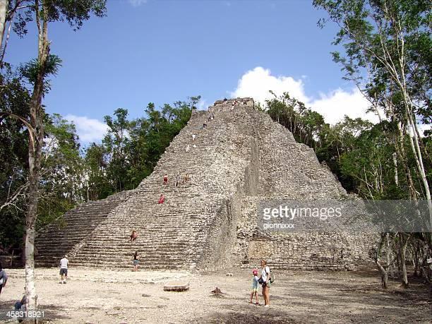 Nohoc Mul pyramid in Coba maya site, Mexico