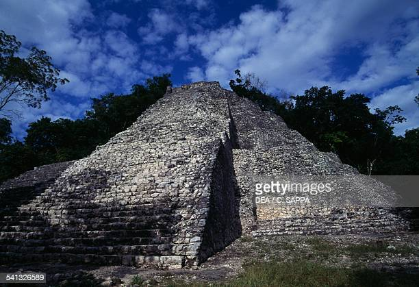 Nohoch Mul Pyramid archaeological site of Coba Quintana Roo Mexico Maya civilisation
