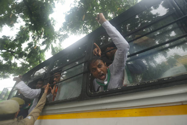 IND: Congress Protest Against Continuous Hike In Fuel And LPG Prices