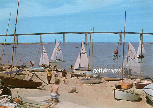 Noirmoutier France the bridge postcard c 1974