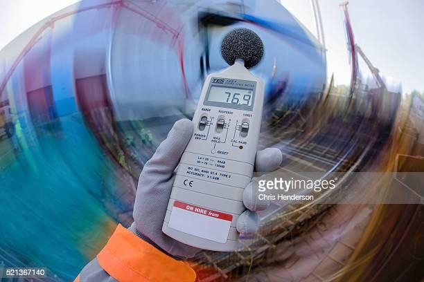 Noise measurment on construction site.