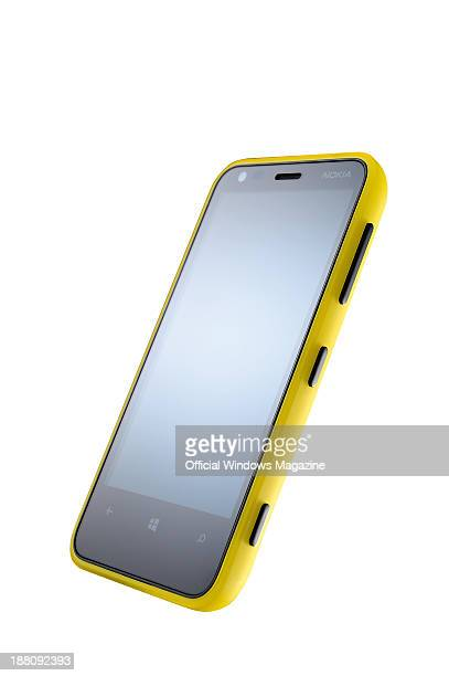 A Nokia Lumia 620 phone photographed on a white background taken on February 28 2013