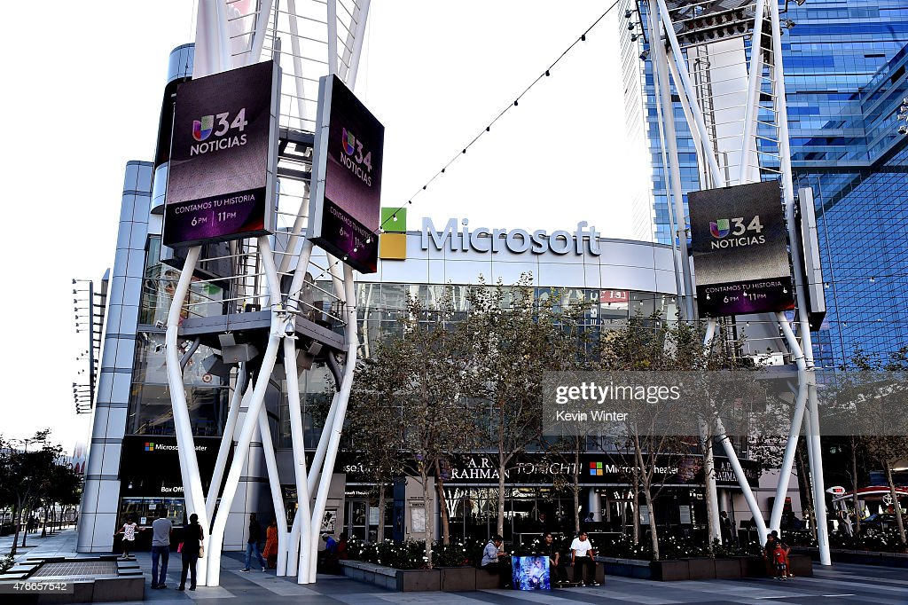 Nokia Theatre L.A. LIVE officially renamed Microsoft Theater on June 10, 2015 in Los Angeles, California.