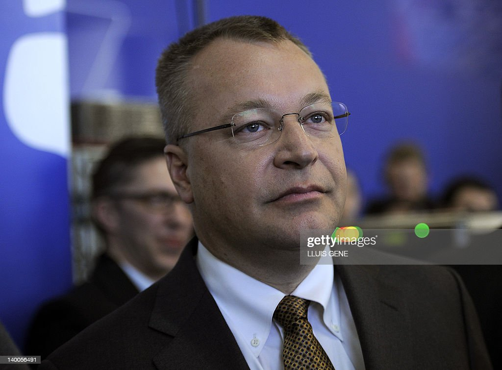 Nokia's President and CEO Stephen Elop a : News Photo