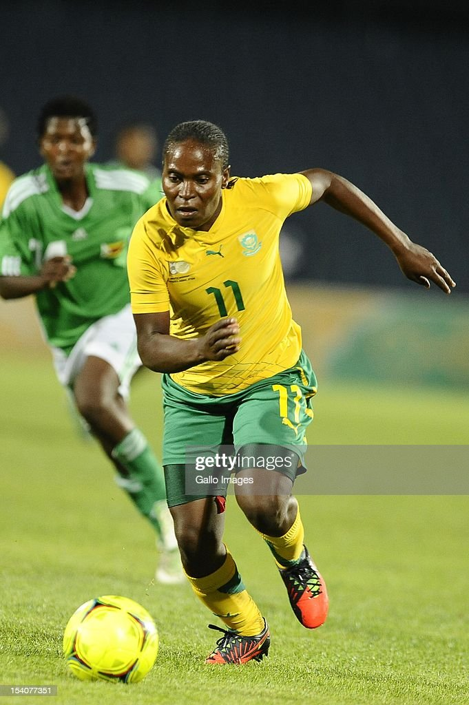 Noko Matlou in action during the Womens International Friendly match between South Africa and Zimbabwe from Volkswagen Dobsonville Stadium on October 13, 2012 in Dobsonville, South Africa.