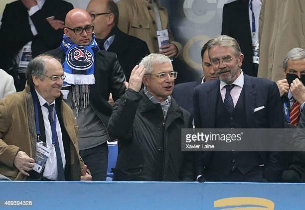 Nol Le Grat Claude Bartolone and Frederic Thiriez attend the French League Cup Final between Paris SaintGermain and SC bastia FC at Stade de France...