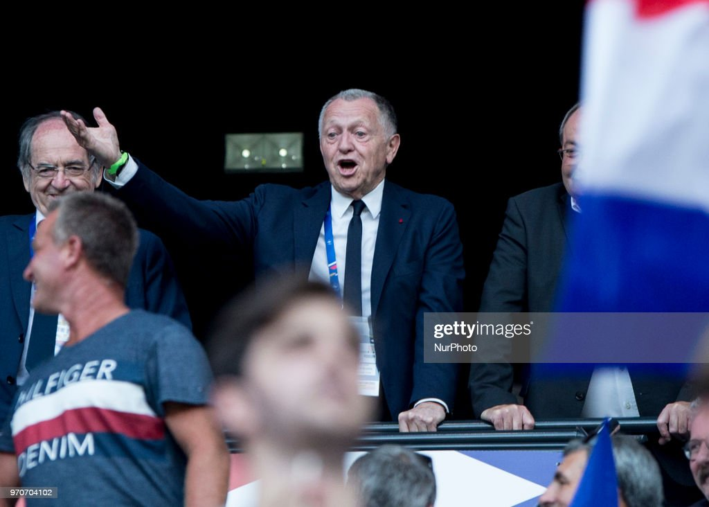 Noël Le Graët; President OL during the friendly football match between France and USA at the at the Parc Olympique lyonnais stadium in Decines-Charpieu, near Lyon on June 9, 2018.