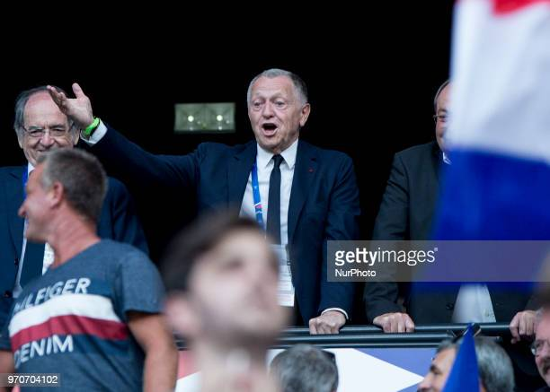 Noël Le Graët President OL during the friendly football match between France and USA at the at the Parc Olympique lyonnais stadium in DecinesCharpieu...