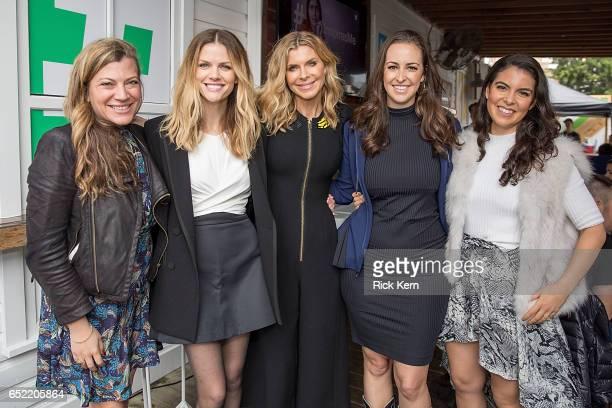 Nola Weinstein Brooklyn Decker Whitney Casey Jesse Draper and Caroline Ghosn attend Twitter's #SheInspiresMe brunch during SXSW at Bar 96 on March 11...